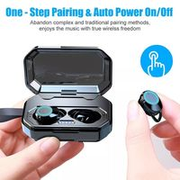 X6 2 in 1 Wireless bluetooth 5.0 Earphone Waterproof Binaural Call Touch Stereo In-ear TWS Headphone With Power Bank