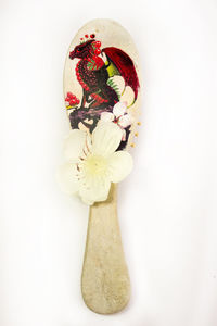 Women wooden hair brush, as natural Christmas gift for mother. Eco wood hair combo. Hair accessories. Dragon with flower hair comb Decoupage $37.20
