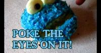 how to make cookie monster cupcakes. easy!