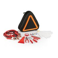 Emergency Road Kit in Black w/Orange - Roadside Auto Triangular-Shaped Tote