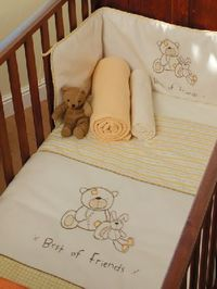 Best of Friends Yellow Cot and Cot Bed Nursery Bedding Bale Lollipop Lanes Best of Friends is a traditional design in shades of golden lemon and cream, highlighted by coffee piping and trims. To fit cot and cot bed. Including: Quilt: 100 x 120cm. Approx 4...