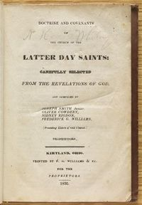 1835 Edition of D&C