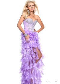 Sherri Hill 1543 High Low Ruffled Dresses