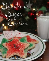 Grandma's Sugar Cookies-a Christmas Tradition. This recipe is a special one. It's just a simple sugar cookie, made with lots of love. What makes it special is i