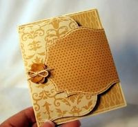 Card with cool fold: Perfect for using CTMH Cricut Cartridges shapes! Click for more....