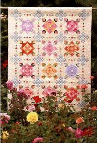 """Gorgeous Quilt! Rose of Havana from the book """"A Dozen Roses"""". Also, look for Scottish Rose throw."""