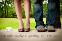 "Pregnancy announcement: Growing by ""Two Feet"""