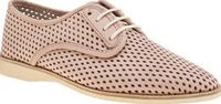 Rollie Nation Pale Pink Derby Punch Womens Flats Perforated perfection arrives for your summer wardrobe, courtesy of Rollie. The fun and stylish Australian brand pride themselves on delivering ultra-lightweight shoes and the pink leather Derby Punch http:...