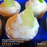 "Margarita Cake with Key Lime Cream Cheese Frosting | ""Fun to make and decorate, and fun to eat too. Tart and sweet both, and very tropical, citrusy tasting. Creative and a sure 'conversation cupcake."" -naples34102"