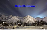 Hello Christmas snow picture