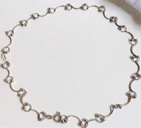 Sterling Silver Necklace, Filigree Necklace, Sterling Silver Choker, Vintage Silver Necklace, Statement Necklace, Unique Vintage Necklace $56.00