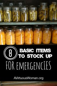 Family Preparedness: Is your family prepared for the worst? Here are 8 Basic Items to Stock Up.