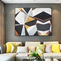 Geometric art Abstract painting acrylic paintings on canvas original art black Painting Wall Pictures cuadros abstractos framed wall art $123.75