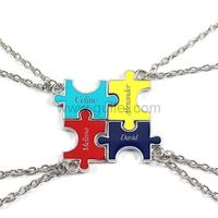 4 Piece Jigsaw Puzzle Bff Friendship Necklaces Set https://www.gullei.com/4-piece-jigsaw-puzzle-bff-friendship-necklaces-set.html