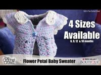 Crochet Baby Petal Sweater Tutorial , very cute: thanks so for video xox