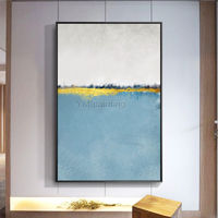 Gold art Modern art Abstract paintings on canvas original art blue painting wall pictures hand painted Home decor cuadros abstractos $123.75
