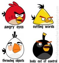 Anger management lessons for kids using Angry Birds