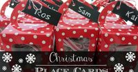 Treat boxes / table place cards