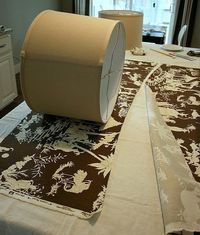 Learn how to create a custom fabric-covered lampshade with these step-by-step instructions at HGTV.com.