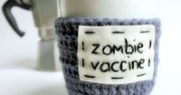 Zombie Vaccine Coffee Mug Cozy by KnotworkShop Perfect for blind auction!