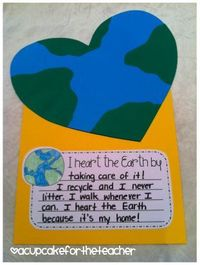 heart the earth - Earth Day craftivity