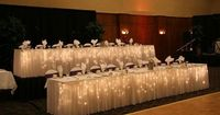 Icicle lights under the bridal party table. so pretty! �€�and cheap! looks amazing wedding-stuff
