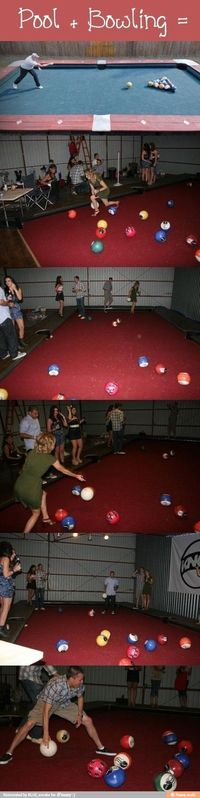 Pool + bowling = epic That would be awesome in my backyard!!