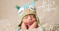 Download PDF crochet pattern 009 - Sleepy Owl hat - Multiple sizes from newborn through age 4 on Etsy, $4.95