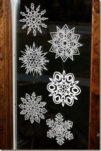 use coffee filters to make paper snowflakes...directions and pice
