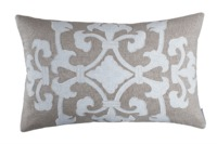 Angie Natural Linen Small Rectangle Pillow by Lili Alessandra $275.00
