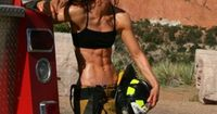 Daily ABspiration: Hot Chicks With Hot Abs <- Abs + Firefighter Suit