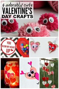If you're looking for the perfect Valentine's Day ideas to keep your kids busy, you'll love this fabulous collection of Valentine's Day crafts for kids!
