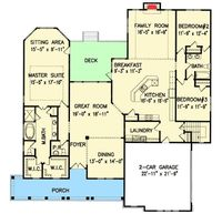 Split Bedroom Country House Plan - 25608GE | Architectural Designs - House Plans