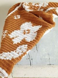 This Intarsia Brocade Afghan made with Vanna's Choice is absolutely stunning!