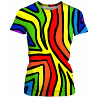 Rainbow Zebra Womens T-Shirt $43.95