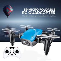 S9 S9W S9HW Foldable RC Mini Drone Pocket Drone Micro Drone RC Helicopter With HD Camera Altitude Hold Wifi FPV FSWB Pocket Dron $26.17