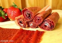 Strawberry Fruit Rollups (just strawberries and honey)