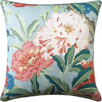 Aqua Enchanted Garden Pillow by Ryan Studio $350.00