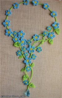 Forget-me-nots necklace, belt or hair band