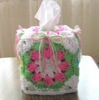 Make this colorful Tissue Box Cover as a special crochet project. The colors will light up the room and it's a useful craft. The Colorful Shells and Bows Boutiq
