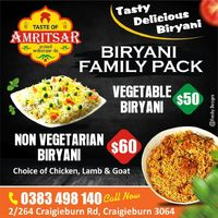 Family Pack Biryani - Taste Of Amritsar