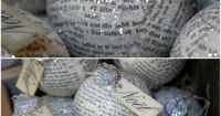 diy ornaments link broken but so cute!!! Scripture would be great paper to use or hymnals