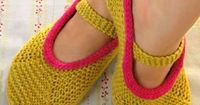 Whit's Knits: Mary Jane Slippers