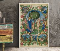 Tree of Life and Death Flanked by Eve and Mary-Ecclesia (Poster, No Frame) $20.00