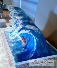 3D Big Wave cake tutorial