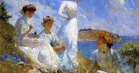 Frank Weston Benson, Summer, 1909. oil on canvas, 36 1/8 x 44 1/2 inches,. Museum of Art, Rhode Island School of Design, Providence.