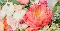 Coral and Pink Wedding Flowers