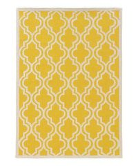 Look at this #zulilyfind! Yellow Quatrefoil Silhouette Wool Rug #zulilyfinds