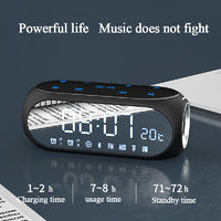 SOAIY S69 Wireless Bluetooth Speaker Built-in HD Mic Double Alarm Clock FM Radio for Home Outdoor