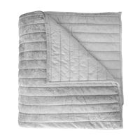 Channel Grey Velvet Quilt by Kevin O'Brien Studio $657.00